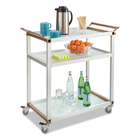 Safco Mobile Beverage Cart SAF8969SL,  (UPC:073555896916)