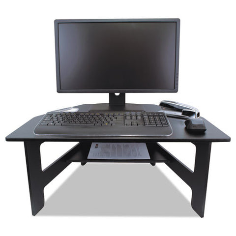 Victor High Rise Stand-Up Desk Converter VCTDC100, Black (UPC:014751431006)
