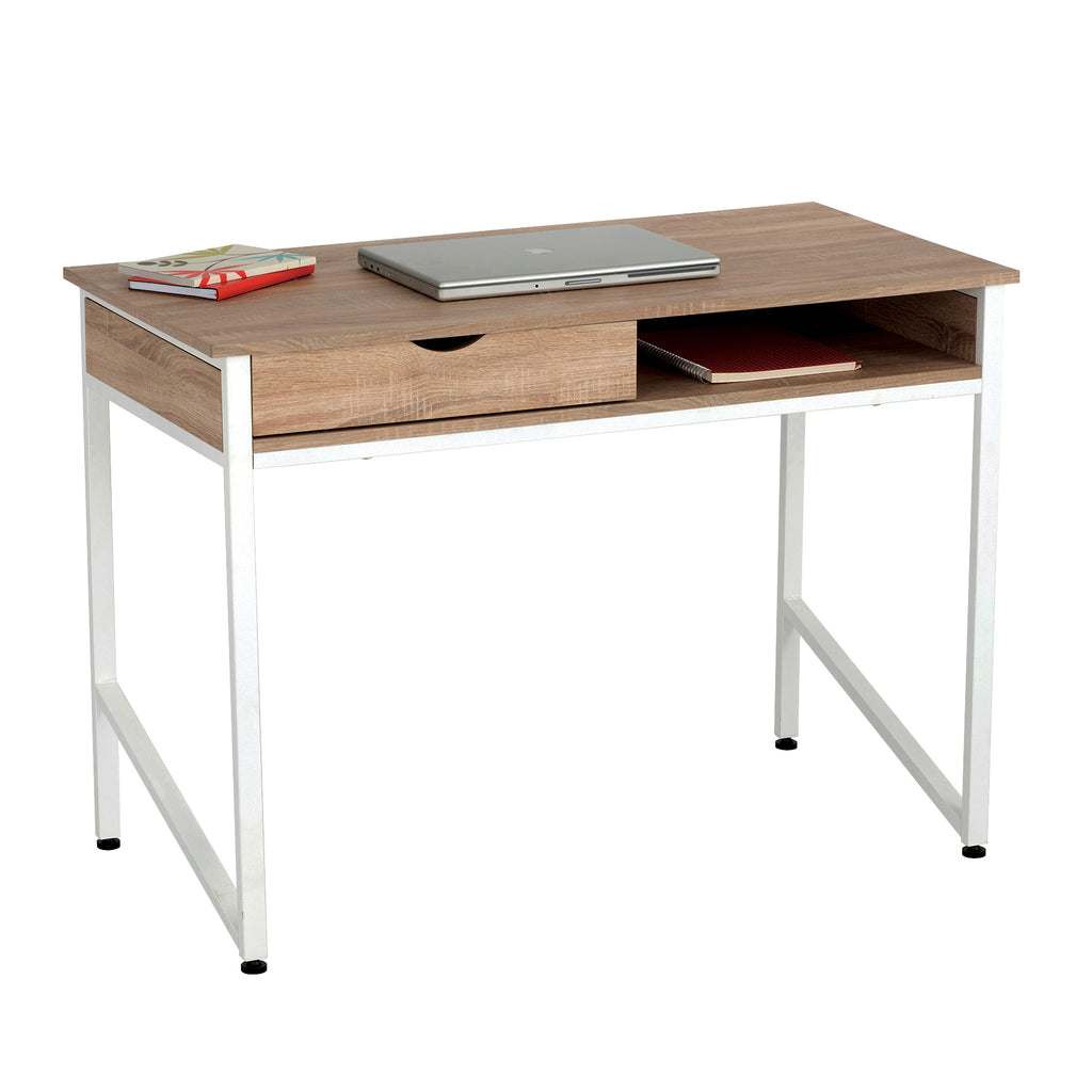 Safco Products Single Drawer Office Desk 1950WH(Image 1)