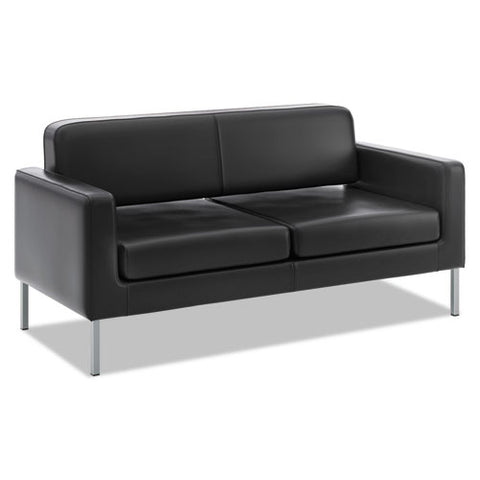 HON Corral Sofa | Black SofThread Leather ; Image 1