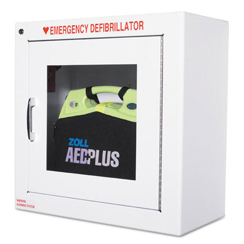 ZOLL AED Plus Standard Size Cabinet with Audible Alarm ZOL80000855, White (UPC:091037062222)