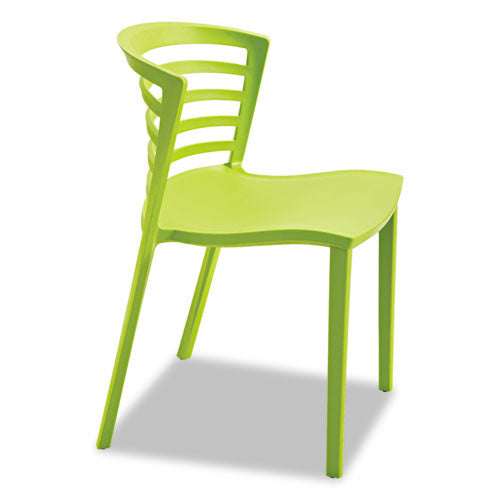 Safco Entourage Stack Chair - Grass (qty. 4) SAF4359GS, Green (UPC:073555435979)