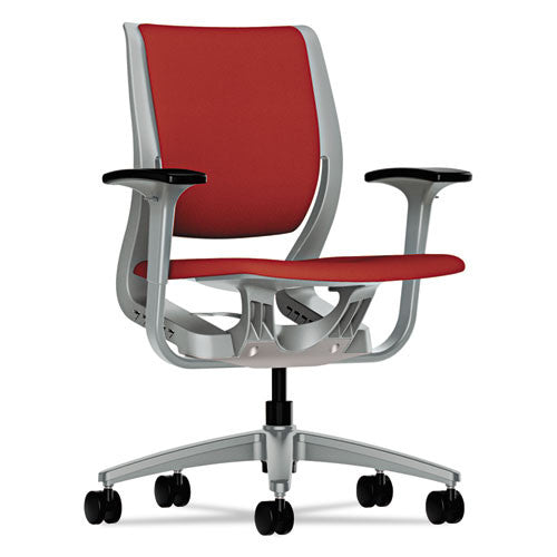 HON Purpose Mid-Back Chair in Poppy/Platinum ; UPC: 641128577144