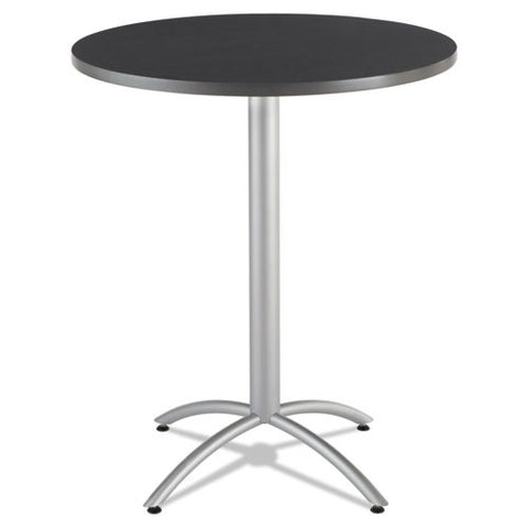 "Iceberg CafeWorks 36"" Round Bistro Table ICE65668, Gray (UPC:674785656686)"
