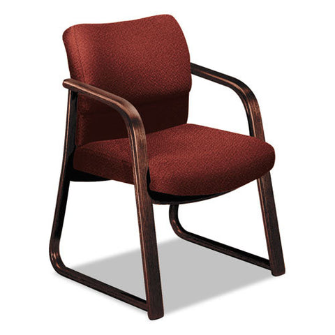 HON 2903 Sled Base Guest Arm Chair HON2903NAB62, Burgundy (UPC:745123407847)