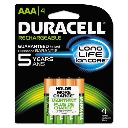 Duracell Ion Core Rechargeable AAA Batteries ; (041333661605)