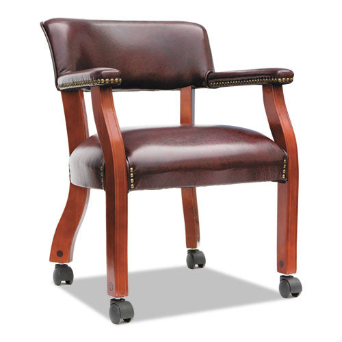 Alera Traditional Series Guest Arm Chair with Casters ALETDC4336,  (UPC:042167380045)