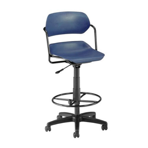 OFM Martisa Series Plastic Task Stool with Drafting Kit ; UPC: 845123011980