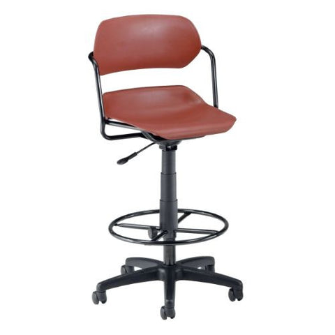 OFM Martisa Series Plastic Task Stool with Drafting Kit ; UPC: 845123011997