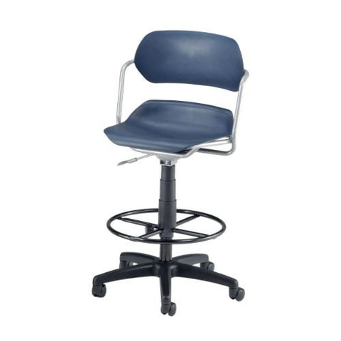 OFM Martisa Series Plastic Task Stool with Drafting Kit ; UPC: 845123012017