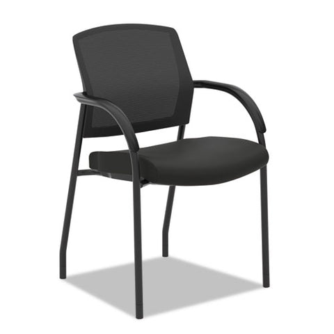 HON Lota Stacking Multi-Purpose Side Chair | Fixed Loop Arms | Black ; Image 2