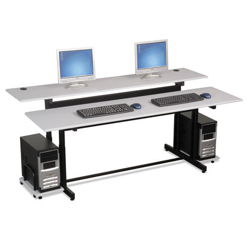 MooreCo Split Level Workstation - 3636 BLT83080,  (UPC:717641830803)