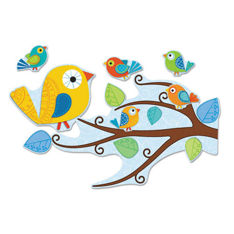 Carson-Dellosa Boho Birds Bulletin Board Set ; (044222222611)