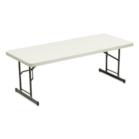 Iceberg IndestrucTable TOO 1200 Series Adjustable Folding Table ICE65623, Gray (UPC:674785656235)