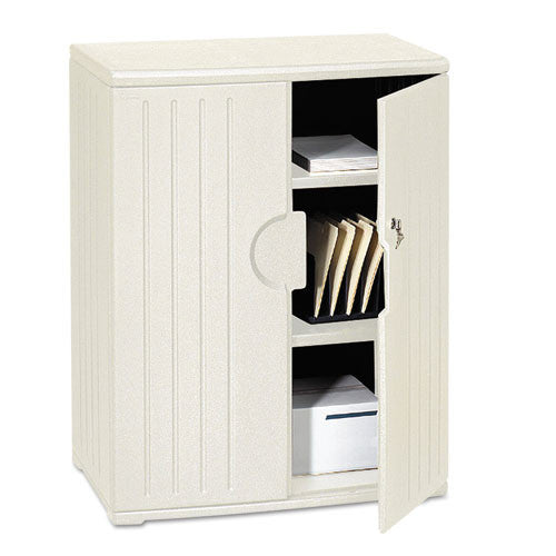 Iceberg Officeworks 2-Shelf Storage Cabinet ICE92563, Silver (UPC:674785925638)