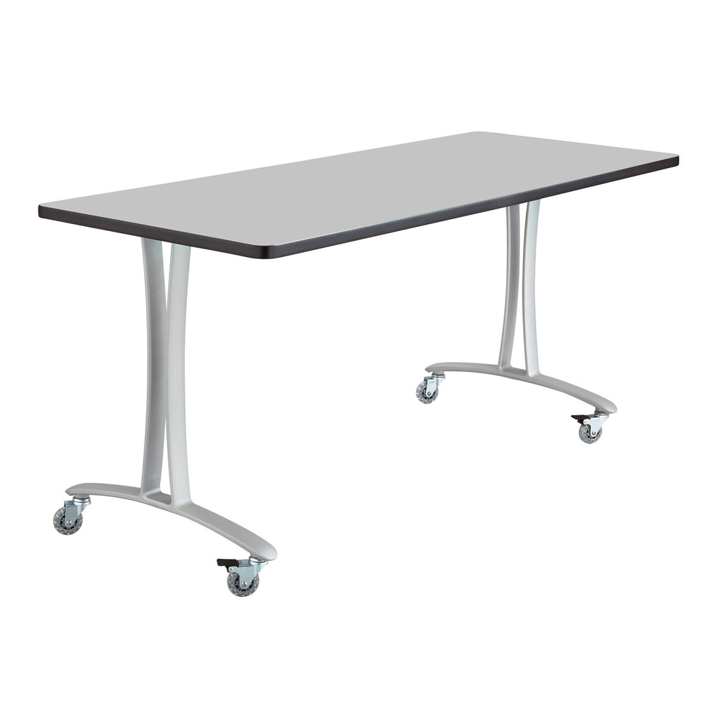 Safco Gray Rumba Training Table w/ T-legs/Casters SAF2094GRSL, Gray (UPC:073555209440)