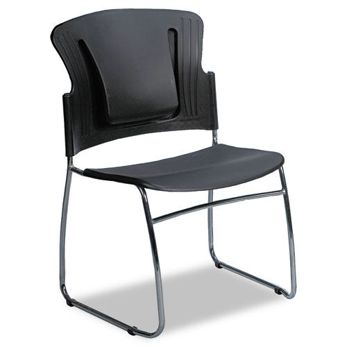 MooreCo ReFlex Stacking Chair BLT34428, Black (UPC:717641344287)