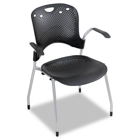 MooreCo Circulation Armless Stacking Chair BLT34554, Black (UPC:717641345543)