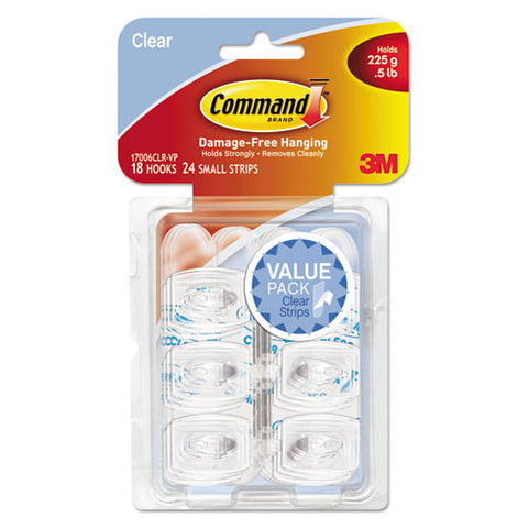 Command Clear Mini Hook Value Pack ; (051141346953); Color:Clear