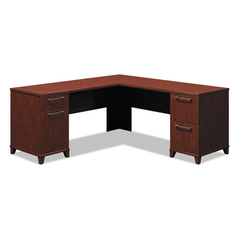 Bush Enterprise 72W x 72D L-Desk Box 1 of 2 BSH2910CSA103, Cherry (UPC:042976291013) ; Image 1