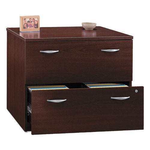 Bush Series C 36W 2 Drawer Lateral File - Assembled BSHWC36754SU, Mahogany (UPC:042976457631) ; Image 1