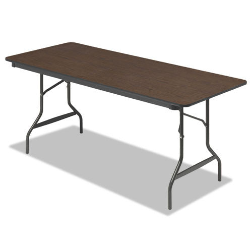 Iceberg 55324 Economy Folding Table ICE55324, Walnut (UPC:674785553244)