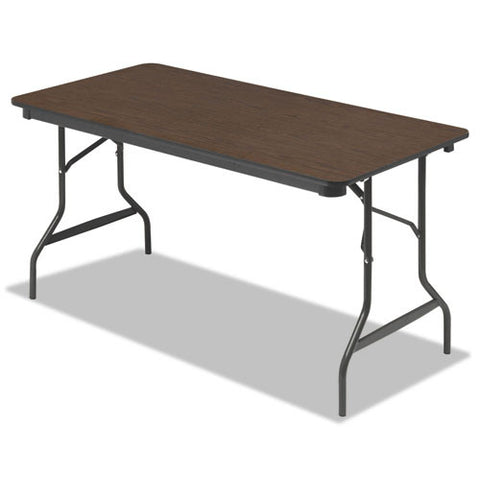 Iceberg 55314 Economy Folding Table ICE55314, Walnut (UPC:674785553145)