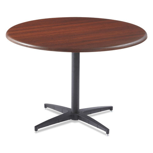 Iceberg OfficeWorks Round Conference Tabletop ICE65033, Mahogany (UPC:674785650332)