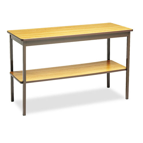 Barricks Storage Shelf Utility Table W/Bottom Shelf BRKUTS1848LQ