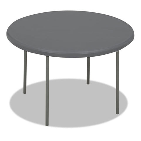 Iceberg IndestrucTable TOO 1200 Series Round Folding Table ICE65247, Gray (UPC:674785652473)