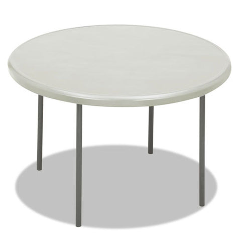 Iceberg IndestrucTable TOO 1200 Series Round Folding Table ICE65243, Gray (UPC:674785652435)