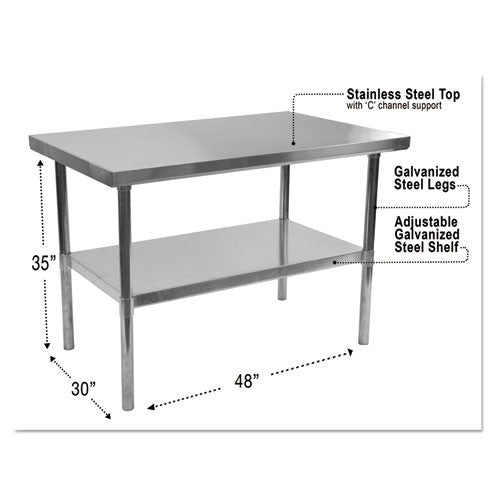 Alera Stainless Steel Table ; UPC: 842998000000