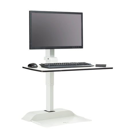 Safco Products Soar by Safco Electric Desktop Sit/Stand – Single Arm 2192WH(Image 3)
