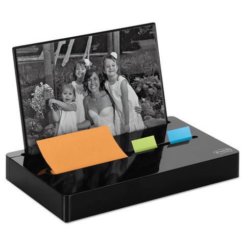 3M Post-it Pop-up Notes Glossy Desk Organizer MMMPH100BK, Black (UPC:051141370804)