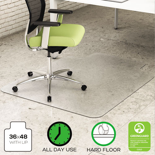 Deflecto EnvironMat Chair Mat with Lip DEFCM2G112PET, Clear (UPC:079916027364)