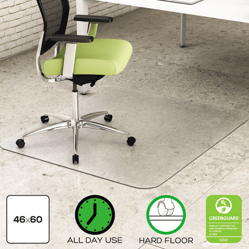 Deflecto PET EnvironMat Rect. Textured Chair Mat DEFCM2G442FPET, Clear (UPC:079916027371)