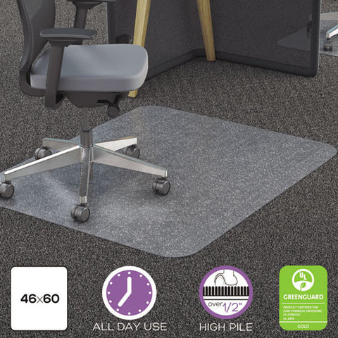 Deflecto All Pile Rectangular Chair Mat DEFCM11442FPC, Clear (UPC:079916022703)