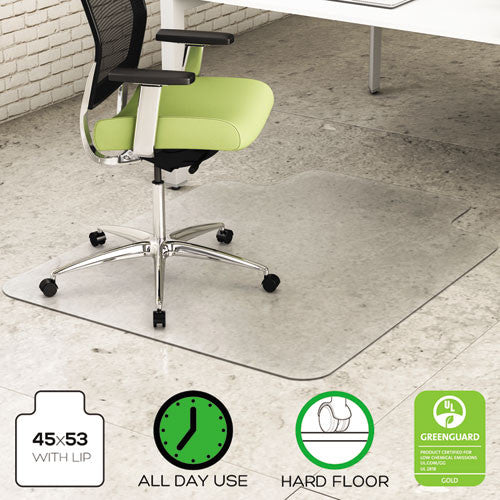 Deflecto EnvironMat Chair Mat with Lip DEFCM2G232PET, Clear (UPC:079916027241)