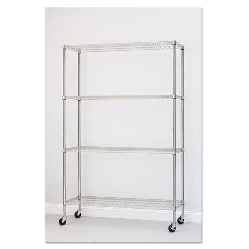 Alera Commercial Wire Shelving Kit with Casters ALESW604818SR,  (UPC:042167923532)