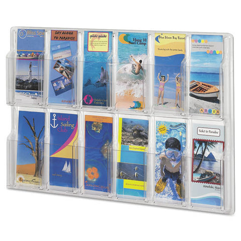 Safco 12 Pamphlet Pocket Display Rack SAF5604CL, Clear (UPC:073555560404)