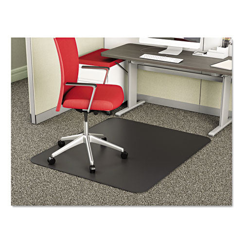 deflecto SuperMat Frequent Use Chair Mat for Medium Pile Carpeting DEFCM14242BLK,  (UPC:079916021881)