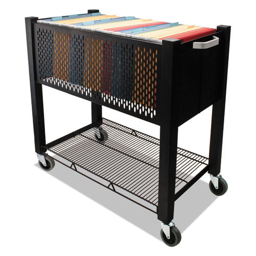 Vertiflex InstaCart Open Top File Cart VRTVF53000, Black (UPC:015433530000)