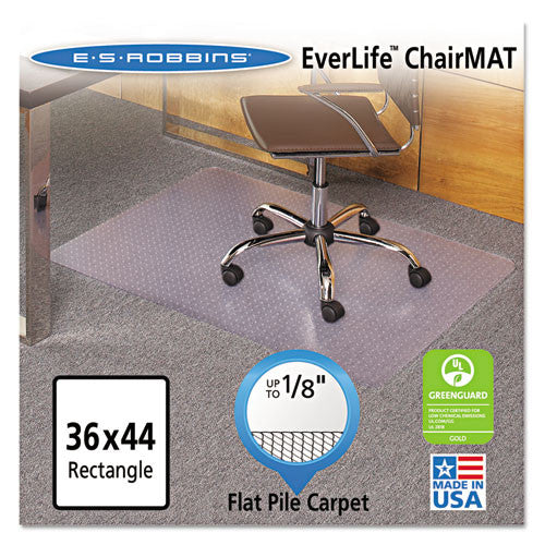 ES Robbins EverLife Light Use Chair Mats for Flat to Low Pile Carpet ESR121821,  (UPC:012544018977)