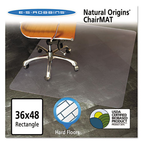 ES Robbins Natural Origins Chair Mat for Hard Floors ESR143007, Clear (UPC:012544014955)