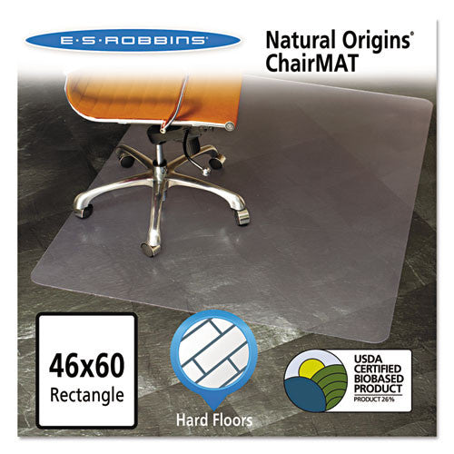ES Robbins Gen7V Clear Rectangular Chair Mat ESR143022, Clear (UPC:012544010841)