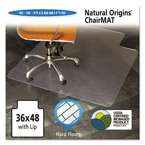 ES Robbins Clear Vinyl Nat. Origins Lip Chair Mat ESR143002, Clear (UPC:012544011985)