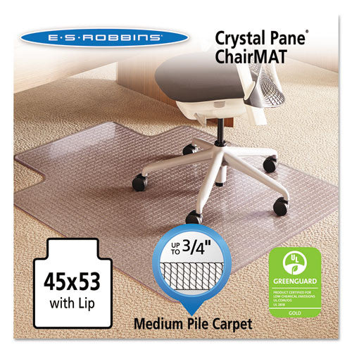 ES Robbins Medium Pile Carpet Chairmat ESR122271, Clear (UPC:012544222718)