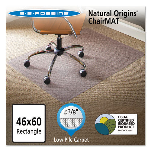 ES Robbins Gen7V Natural Origins Chair Mat ESR141052, Clear (UPC:012544010827)