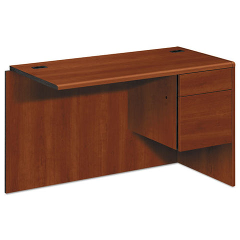 "10700 ""L"" Workstation Return, Right 3/4 Pedestal, 48w x 24d x 29 1/2h, Cognac HON10715RCO"