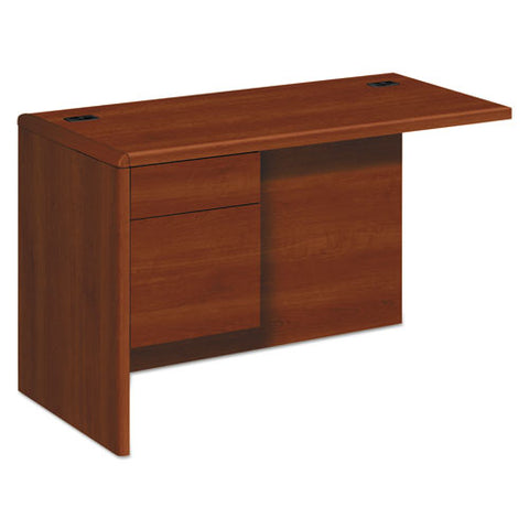 "10700 ""L"" Workstation Return, Left 3/4 Pedestal, 48w x 24d x 29 1/2h, Cognac HON10716LCO"